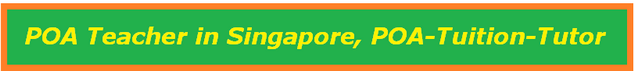 Principles of Accounts teacher in Singapore, POA-tutor / teacher